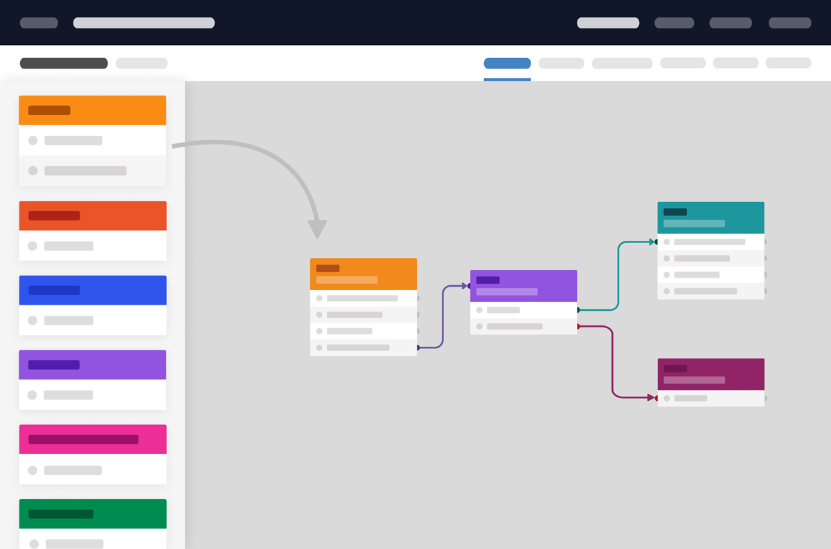 Parloa Drag Drop Frontend Flow Chart Editor