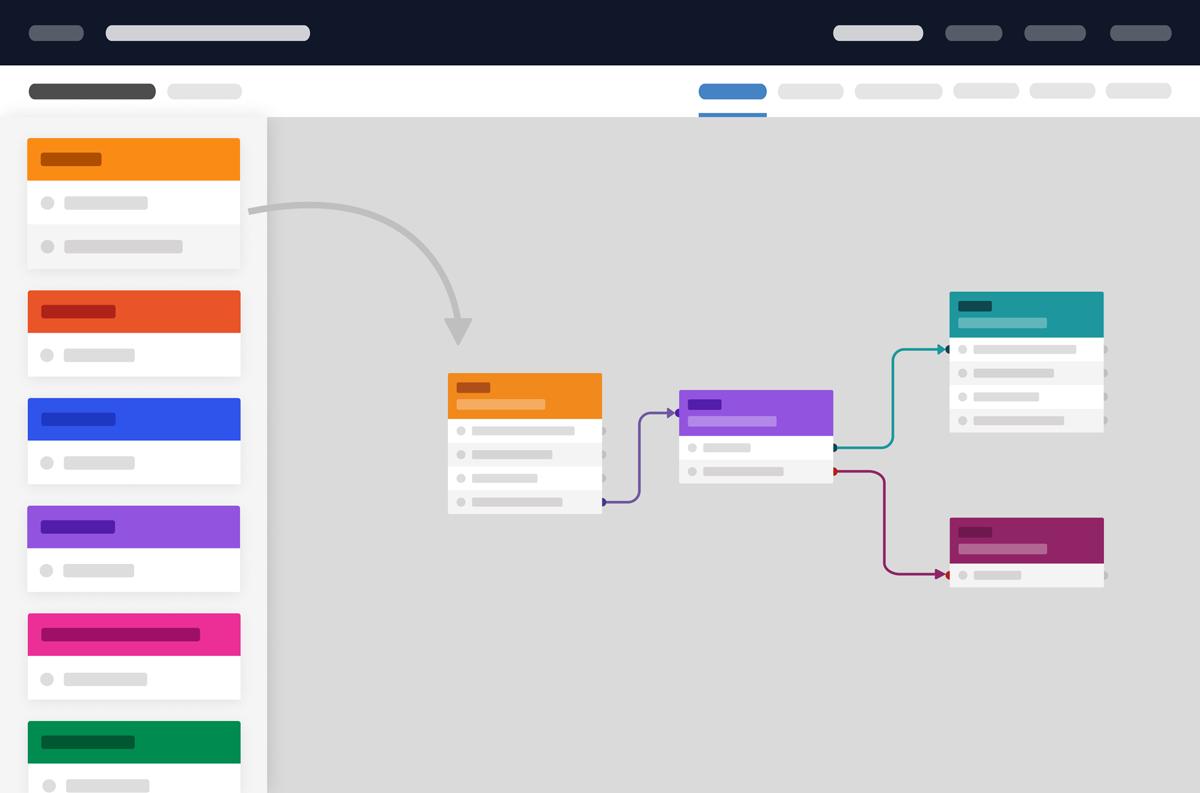 Parloa Drag Drop Frontend Flow Chart Editor
