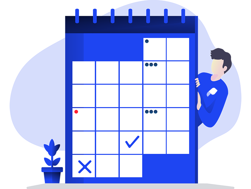 Parloa Date Time Calendar